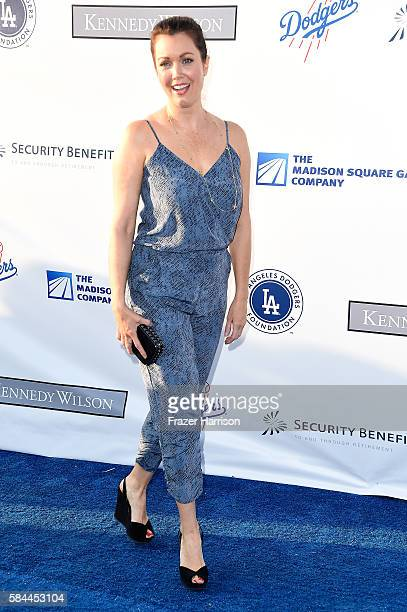 Bellamy Young arrives at the Los Angeles Dodgers Foundation Blue Diamond Gala at Dodger Stadium on July 28 2016 in Los Angeles California