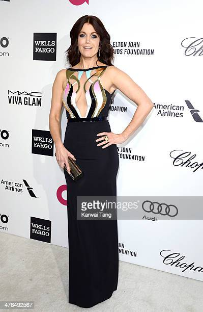 Bellamy Young arrives for the 22nd Annual Elton John AIDS Foundation's Oscar Viewing Party held at West Hollywood Park on March 2 2014 in West...