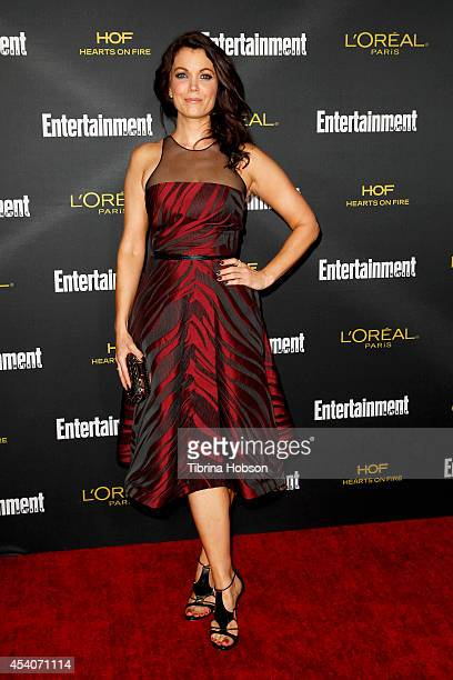 Bellamy Young attends Entertainment Weekly's PreEmmy party at Fig Olive Melrose Place on August 23 2014 in West Hollywood California