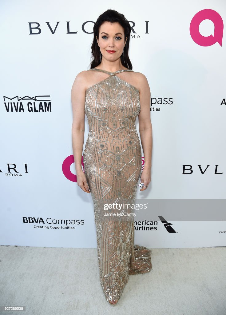 Bellamy Young attends the 26th annual Elton John AIDS Foundation Academy Awards Viewing Party sponsored by Bulgari, celebrating EJAF and the 90th Academy Awards at The City of West Hollywood Park on March 4, 2018 in West Hollywood, California.