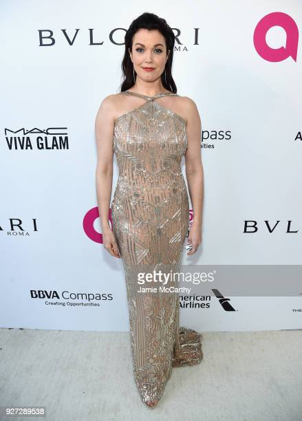 Bellamy Young attends the 26th annual Elton John AIDS Foundation Academy Awards Viewing Party sponsored by Bulgari celebrating EJAF and the 90th...