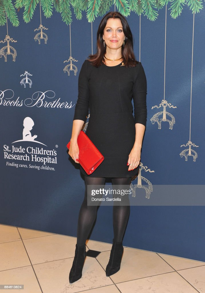 Bellamy Young attends the Brooks Brothers holiday celebration with St Jude Children's Research Hospital at Brooks Brothers Rodeo on December 2, 2017 in Beverly Hills, California.