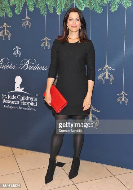 Bellamy Young attends the Brooks Brothers holiday celebration with St Jude Children's Research Hospital at Brooks Brothers Rodeo on December 2, 2017...