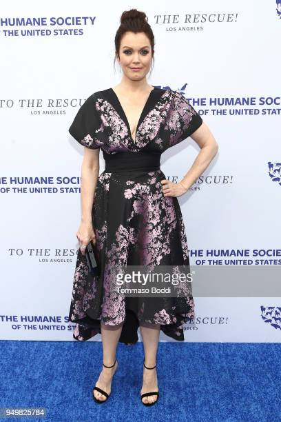 Bellamy Young attends The Humane Society Of The United States' To The Rescue Los Angeles Gala at Paramount Studios on April 21 2018 in Los Angeles...