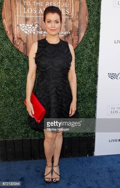 Bellamy Young attends the Humane Society's annual 'To The Rescue' Gala on April 22 2017 in Los Angeles California