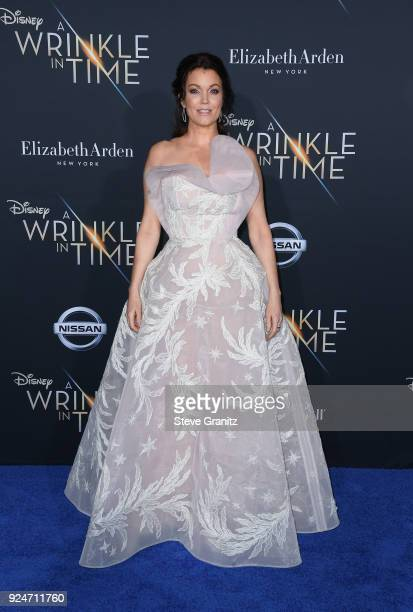Bellamy Young attends the premiere of Disney's A Wrinkle In Time at the El Capitan Theatre on February 26 2018 in Los Angeles California