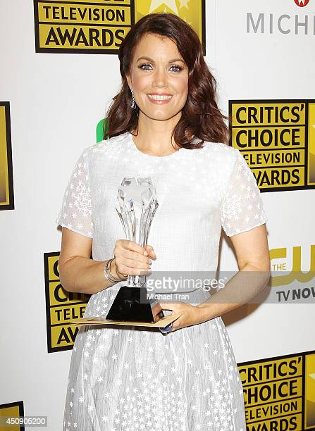 Bellamy Young attends the press room at the 4th Annual Critics' Choice Television Awards held at The Beverly Hilton Hotel on June 19 2014 in Beverly...