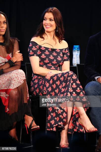 Bellamy Young speaks onstage during SCANDAL THE FINAL SEASON panel at Vulture Festival LA Presented by ATT at Hollywood Roosevelt Hotel on November...