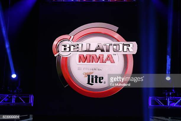 Bellator welterweight champion Andrey Koreshkov and challenger Benson Henderson during their main event bout at Mohegan Sun Arena on April 22, 2016...