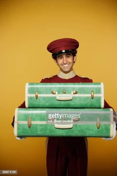Bellboy delivering luggage
