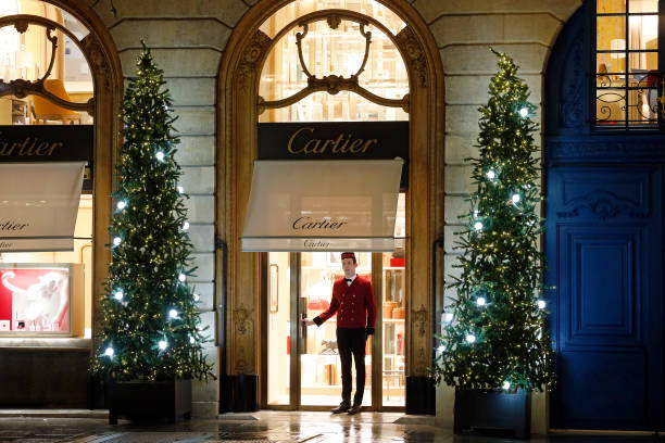 FRA: Place Vendome Is Illuminated with Christmas Lights In Paris