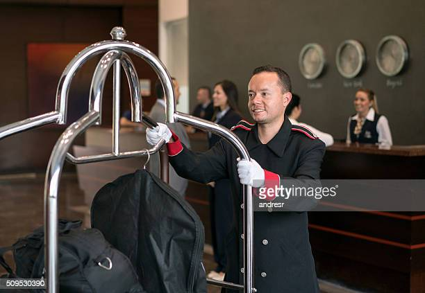 Bellboy working at a hotel