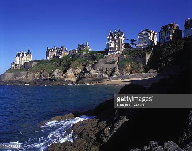 'Belle Epoque' Villas Protected In Dinard France In June 1996 Villas of La Malouine Area Roche Pelee Beach