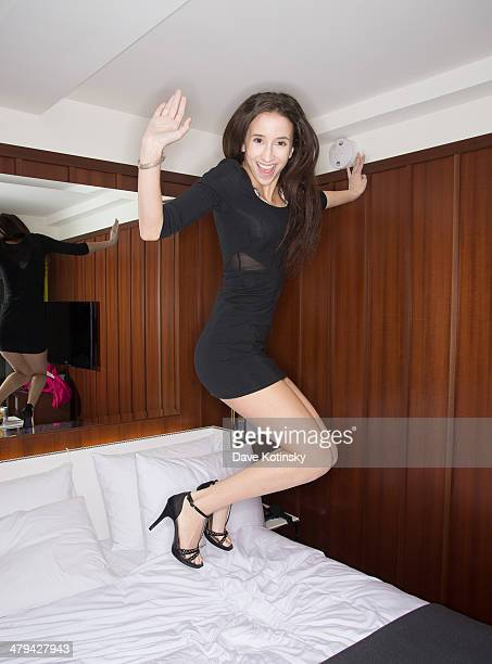 Belle Knox poses for photos on March 18, 2014 in New York City.