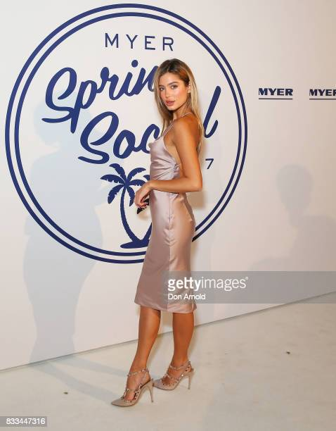 Belle Lucia attends the Myer 'Spring Social' Night Event at Bronte Surf Life Club on August 17, 2017 in Sydney, Australia.