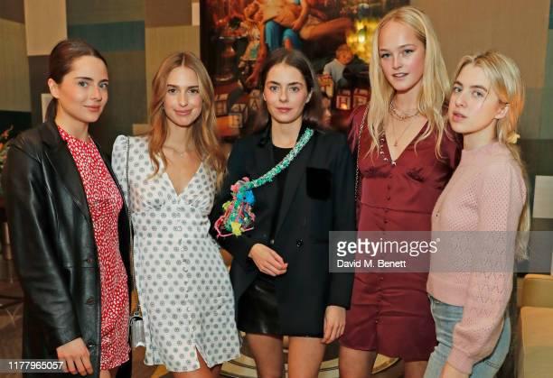Belle Ocampo, Talita von Furstenberg, Marina Ocampo, Jean Campbell and Anais Gallagher attend the launch of Talita von Furstenberg's capsule...