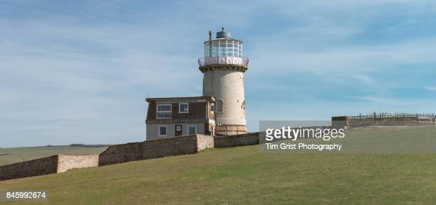 belle tout lighthouse at beachy head - belle tout lighthouse stock photos and pictures