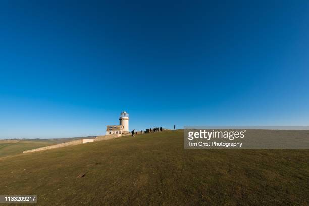 belle tout lighthouse, east sussex, uk - belle tout lighthouse stock photos and pictures