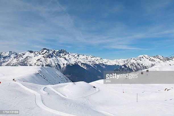 Belledonne intervalo de montanha no Inverno