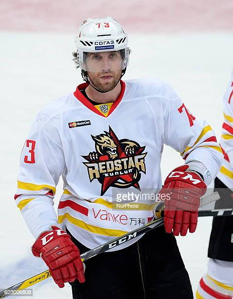 Bellemore Brett of Kunlun RS in action during KHL game between Jokerit and Chinese Kunlun Red Star at Hartwall Arena in Helsinki Finland on November...