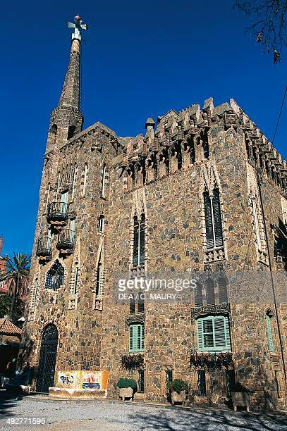 Bellesguard tower, 1900-1909, modernist building designed by Antoni Gaudi , Barcelona, Catalonia, Spain.