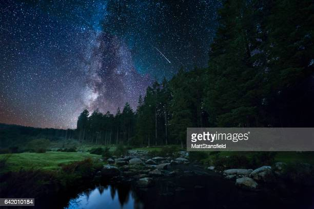 bellever at night - milky way stock pictures, royalty-free photos & images