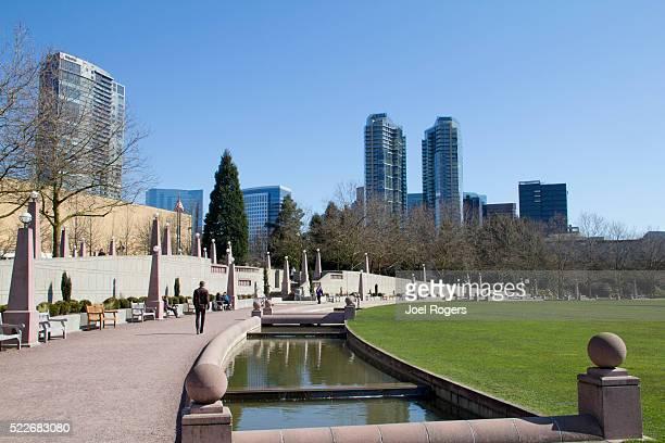 Bellevue, Downtown Park, Washington State USA,