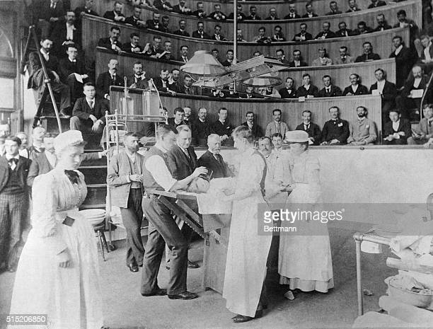 Bellevue Hospital and Anatomical Theater An operation in 1898 Photograph