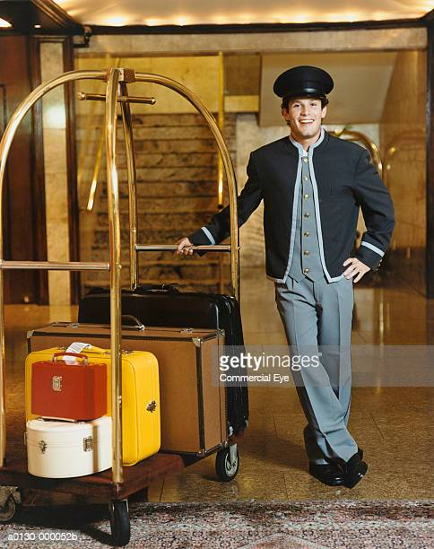 Bellhop with Suitcases