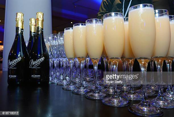 Bellini cocktails are displayed during the unveiling of RH Las Vegas at The Gallery at Tivoli Village on October 27 2016 in Las Vegas Nevada