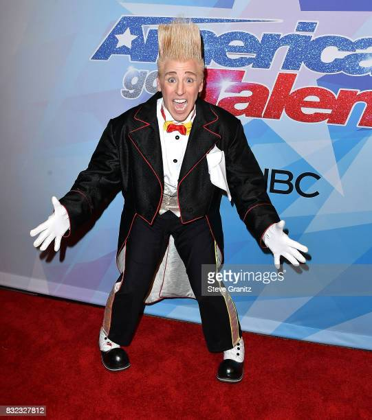 Bello Nock arrives at the Premiere Of NBC's America's Got Talent Season 12 at Dolby Theatre on August 15 2017 in Hollywood California