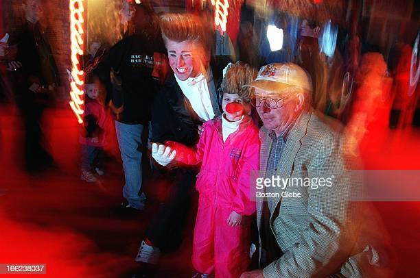 Bello the clown with the Big Apple Circus left Einar Gustafson right the original 'Jimmy' for whom the Jimmy Fund was named And a Jimmy Fund Clinic...