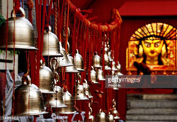 Bells at goddess Durga temple