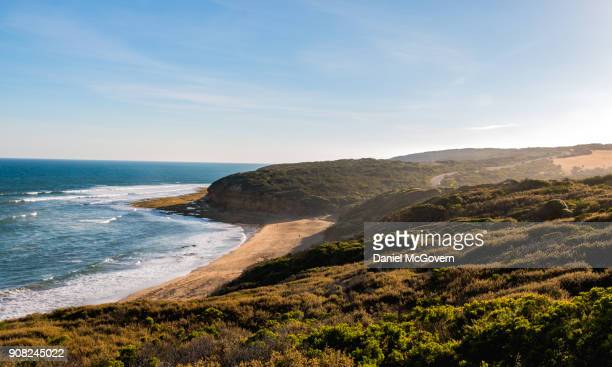 bells beach ocean landscape - torquay,_victoria stock pictures, royalty-free photos & images