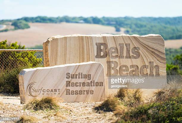 bells beach signs - torquay,_victoria stock pictures, royalty-free photos & images