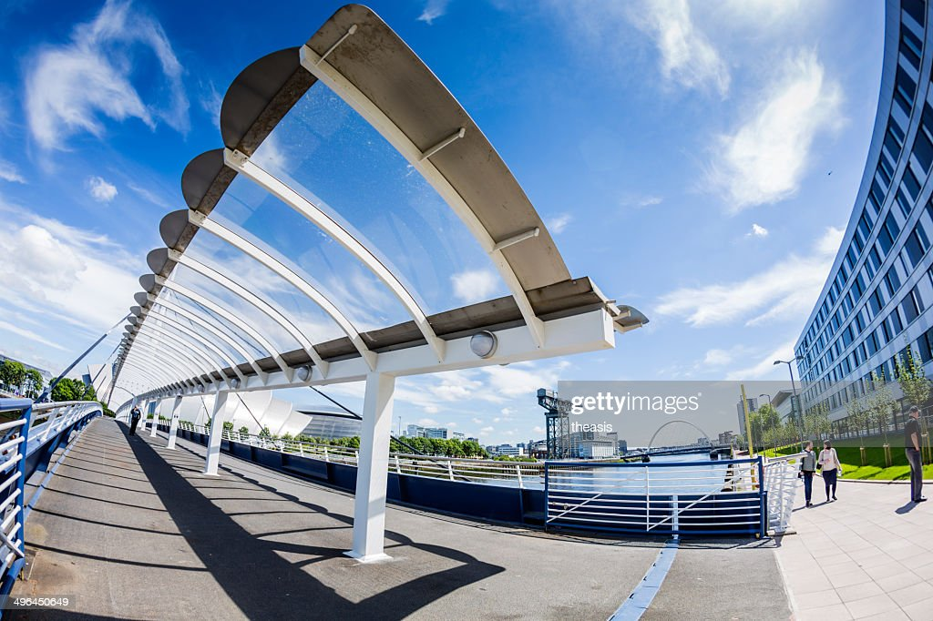 Bells Bridge Over The River Clyde, Glasgow : Stock Photo