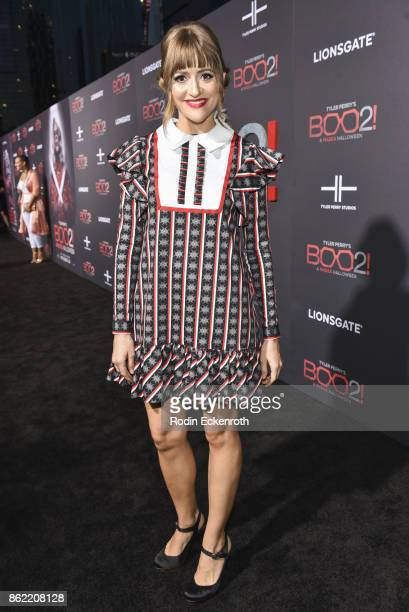 Bellsaint arrives at the premiere of Lionsgate's 'Tyler Perry's Boo 2 A Madea Halloween' at Regal LA Live Stadium 14 on October 16 2017 in Los...