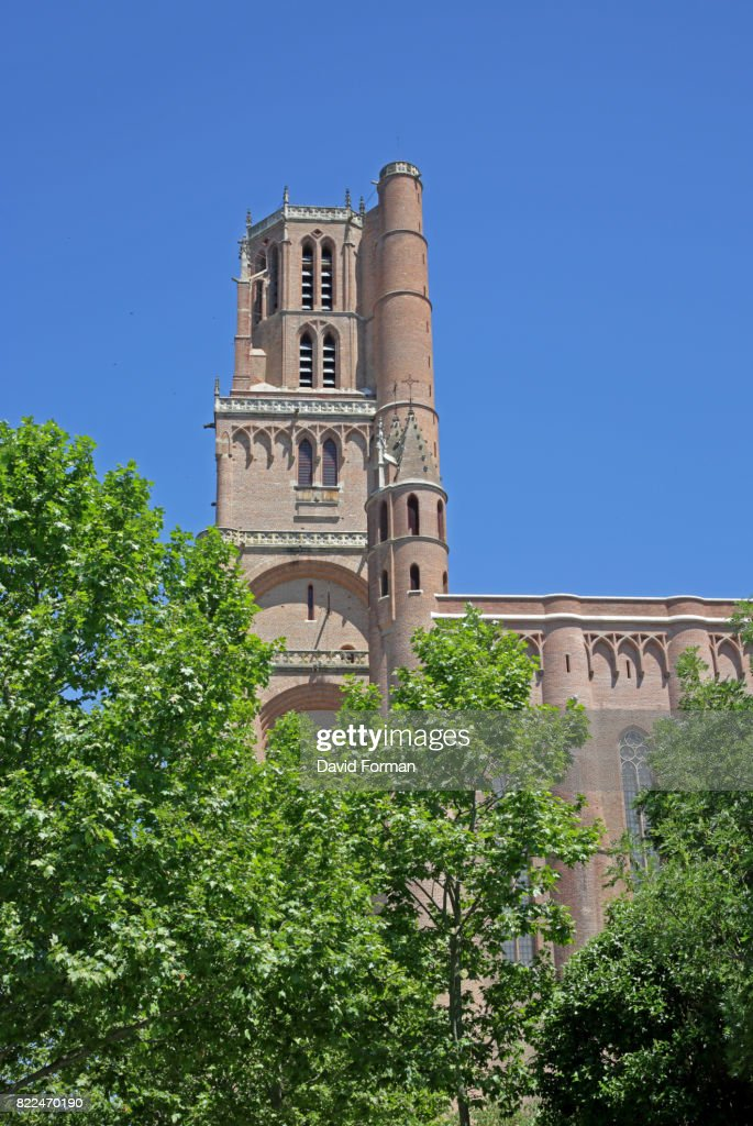 Bell-tower of  Cathedral, Albi, France. : Stock Photo