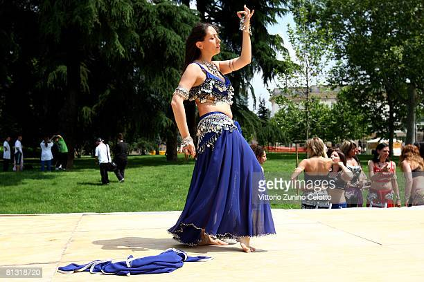 Belly Dance lesson during [muv] MI 2 Days of Sport and Music Non Stop in Milan held at Castello Sforzesco on May 31 2008 in Milan Italy