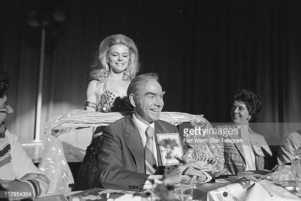 Belly dancer Carol Shannon with Rep Jim Wright at a celebrity breakfast April 3 1977 Carol Shannon is mentioned in Rep Charlie Wilson's book Charlie...