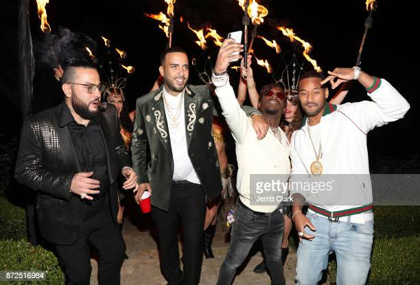 Belly French Montana and Lil Uzi Vert attend the CIROC French Vanilla Birthday Celebration for French Montana on November 9 2017 in Beverly Hills...