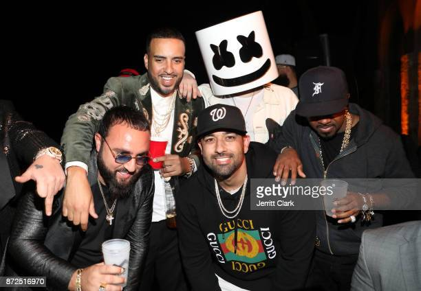 Belly French Montana DJ Marshmello and Jermaine Dupri attend the CIROC French Vanilla Birthday Celebration for French Montana on November 9 2017 in...