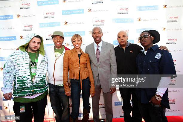 Belly Russell Simmons Monica Stephen Starks Chrysler Financial's Director of the Southeast Business Center Reverend Run and Short Dogg