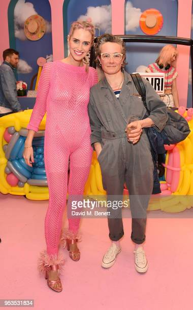 Belma Gaudio and Anna Burns attend the Koibird store launch on May 1 2018 in London England