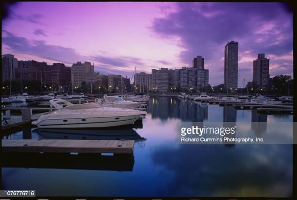Belmont Harbor and Chicago Skyline