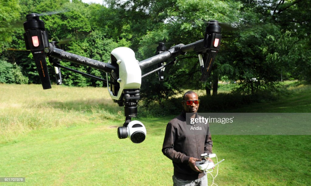 Drone of the Cinemaerien company. : News Photo