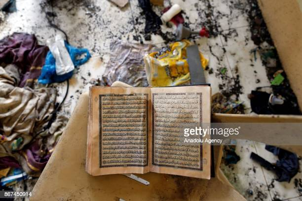 Belongings of Abu Sayyaf leader Isnilon Hapilon is seen at an apartment house believed to have been rented by him at a residential area in Marawi...