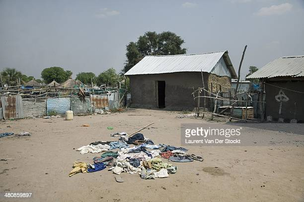 Belongings of the people who had to fled their houses in the Marol district Photograph Laurent Van der Stockt/Edit by Getty Images