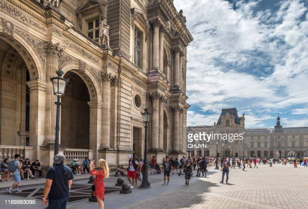 beloved louvre - cour carree stock pictures, royalty-free photos & images