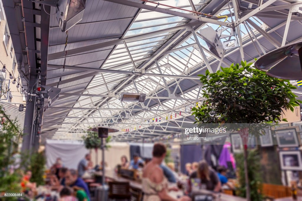 Below the canopy of Greenwich Market in London  Stock Photo & Below The Canopy Of Greenwich Market In London Stock Photo | Getty ...